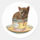 Coffee Anyone? Kitten stickers