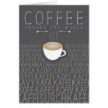 Coffee Around the World Languages Card