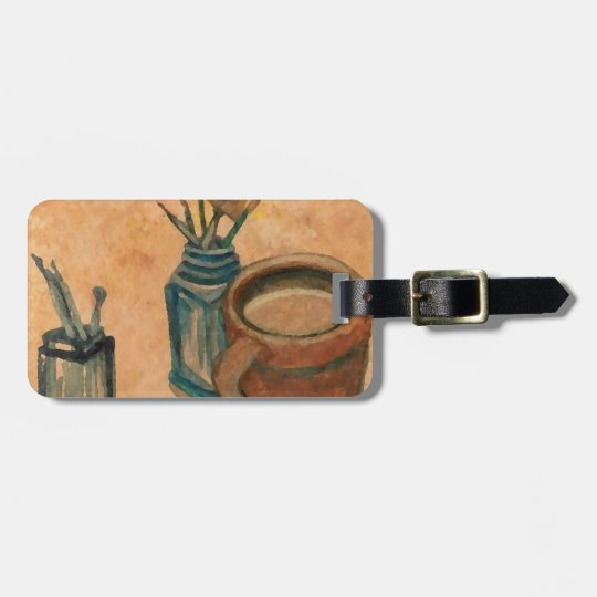 Coffee Art - First Thing in the Morning Luggage Tag