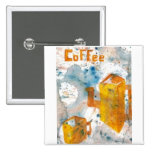 Coffee Art Folk Style - Squared Button