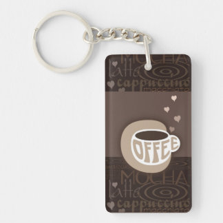 Coffee Art Key Chain