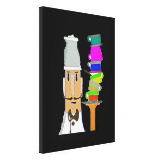 Coffee at My Favorite Cafe Canvas Print