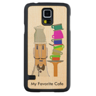 Coffee at My Favorite Cafe Carved® Maple Galaxy S5 Case