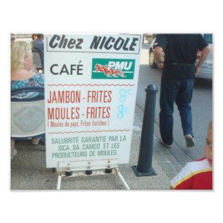 "Coffee ""At Nicole"" Wissant Photo Print"