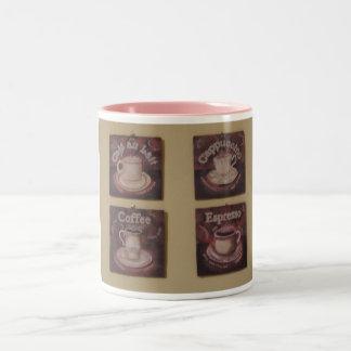 Coffee Au Lait and More Two-Tone Coffee Mug