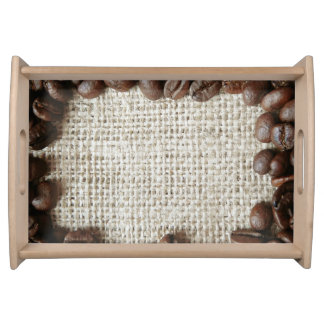 Coffee background food trays