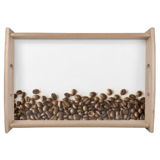 Coffee background food tray