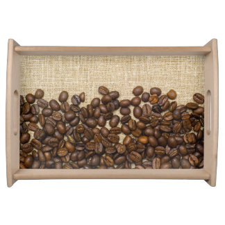 Coffee background serving platter