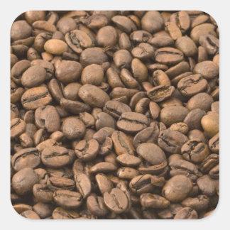 Coffee Background Square Sticker