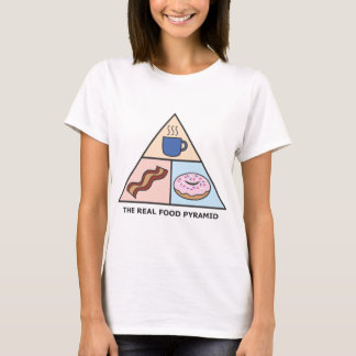 Coffee, Bacon & Donuts - The Real Food Pyramid T-Shirt