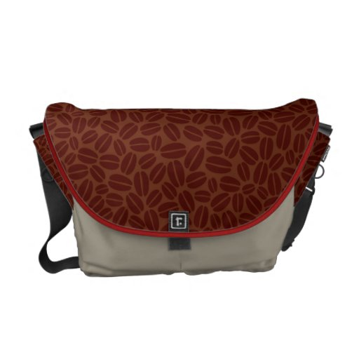 Coffee Bag - Coffee Beans Texture Courier Bag