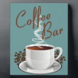 """Coffee Bar Sign Plaque<br><div class=""""desc"""">Perfect sign to set near your coffee pot - or to inspire your own coffee bar area!</div>"""