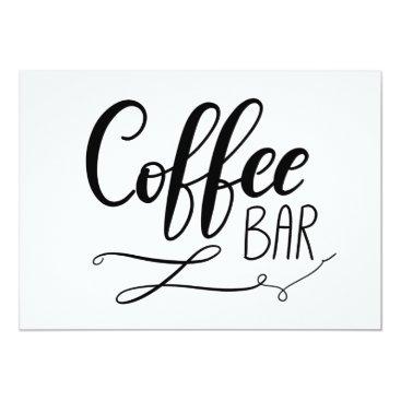 wedding_trends_now Coffee Bar   Simple Casual Handwritten Script Card