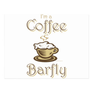 Coffee Barfly Postcard