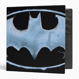Coffee Bat Symbol - Blue 3 Ring Binder