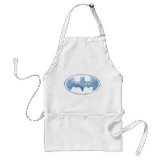 Coffee Bat Symbol - Blue Adult Apron