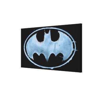 Coffee Bat Symbol - Blue Canvas Print
