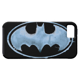 Coffee Bat Symbol - Blue iPhone 5 Covers
