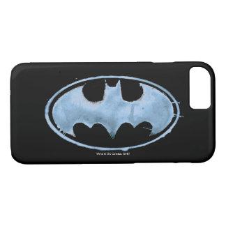 Coffee Bat Symbol - Blue iPhone 7 Case