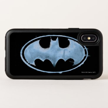 Coffee Bat Symbol - Blue OtterBox Symmetry iPhone X Case