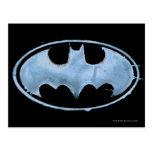 Coffee Bat Symbol - Blue Postcard
