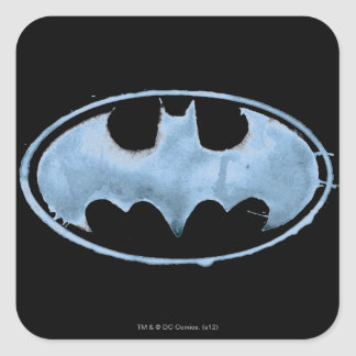 Coffee Bat Symbol - Blue Square Sticker