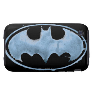 Coffee Bat Symbol - Blue Tough iPhone 3 Cover