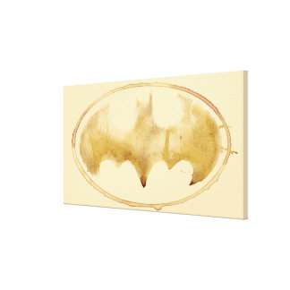 Coffee Bat Symbol Gallery Wrapped Canvas