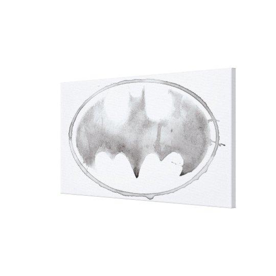 Coffee Bat Symbol - Gray Canvas Print