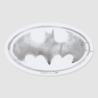 Coffee Bat Symbol - Gray Oval Sticker