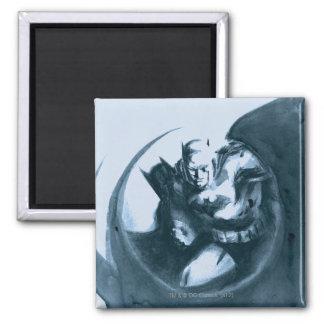 Coffee Batman 2 Inch Square Magnet