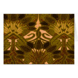 Coffee Bean and Flower Pattern Greeting Card
