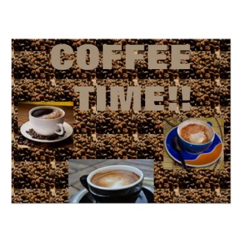 Coffee Bean Art Poster by CREATIVEforBUSINESS at Zazzle
