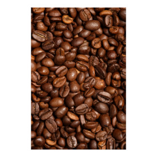 coffee bean background poster