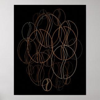 coffee bean blur poster