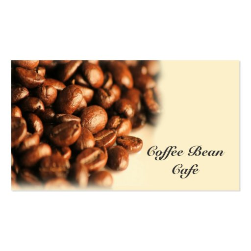 Coffee Bean Business Card (front side)