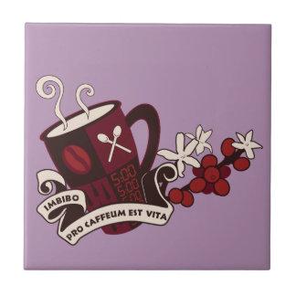 Coffee Bean Caffeine Latin Ceramic Tile