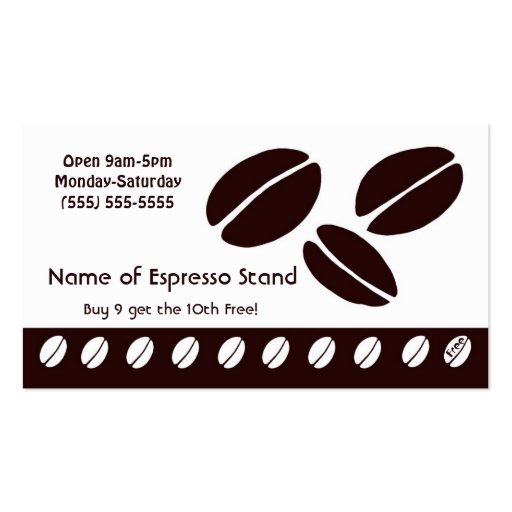 coffee_bean_espresso_stand_loyalty_punch_card_business_card ...