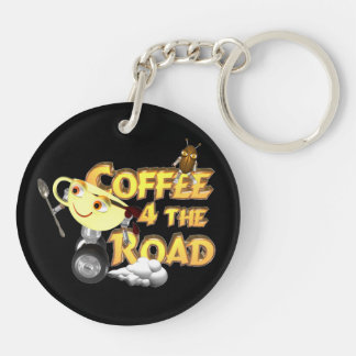 Coffee bean for the road by Valxart.com Keychain