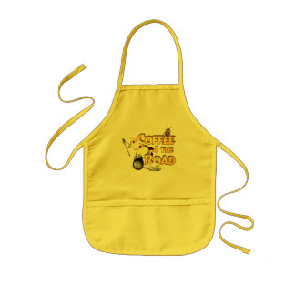 Coffee bean for the road by Valxart.com Kids' Apron