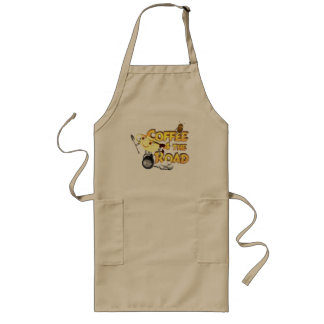 Coffee bean for the road by Valxart.com Long Apron