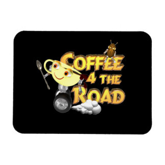 Coffee bean for the road by Valxart.com Magnet