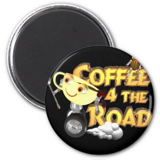 Coffee bean for the road by Valxart.com Magnets
