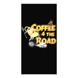 Coffee bean for the road by Valxart com Customized Photo Card