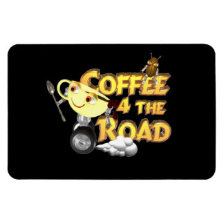 Coffee bean for the road by Valxart.com Vinyl Magnet