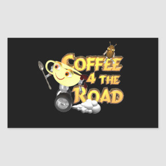 Coffee bean for the road by Valxart.com Rectangular Sticker