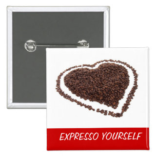 Coffee Bean Heart Button