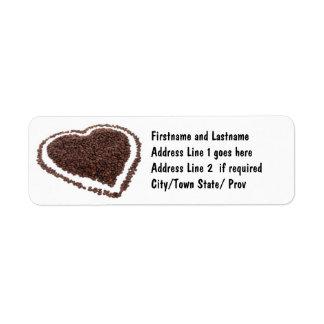 Coffee Bean Heart Label