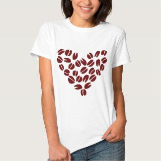 Coffee Bean Heart T Shirts
