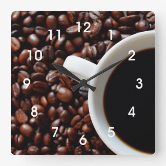 Coffee Bean Kitchen Wall Clock